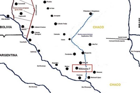 c2a877bb0b00 Héroes del Chaco Batalla del kilómetro 7