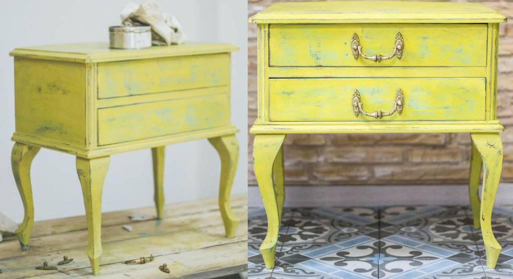 Muebles con pintura a la tiza una tendencia interesante - Pintura acrilica para muebles ...