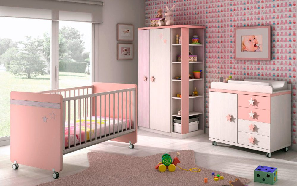 Decorar habitacion bebe nia awesome arreglos with - Cuartos para bebes nina ...