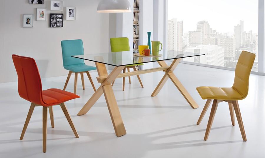 Mesas de vidrio para comedor los tiempos for Mesas de comedor de vidrio