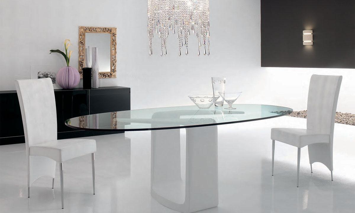 Mesas de vidrio para comedor los tiempos for Comedores modernos para 4 personas