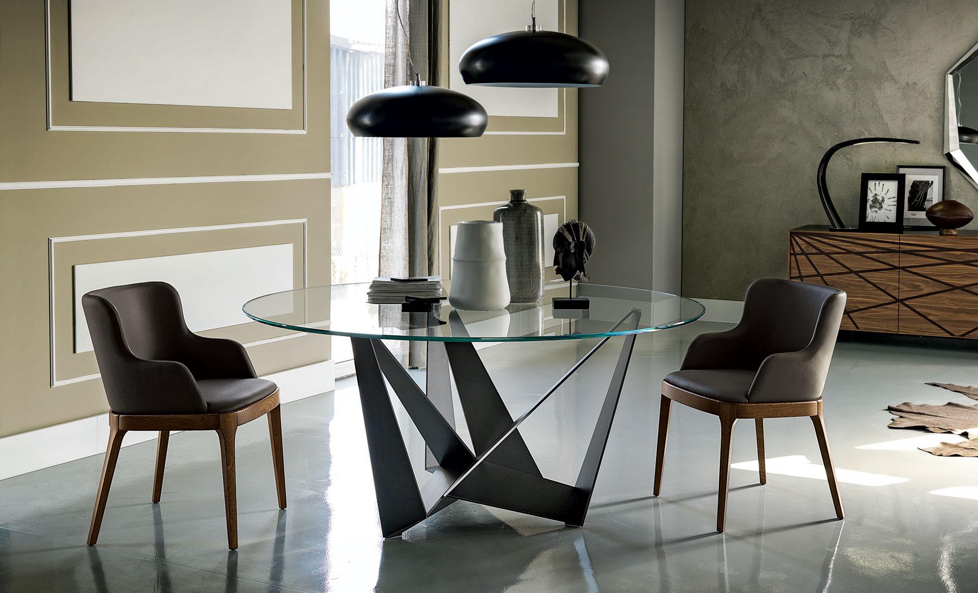 Mesas de vidrio para comedor los tiempos for Mesas de salon de cristal