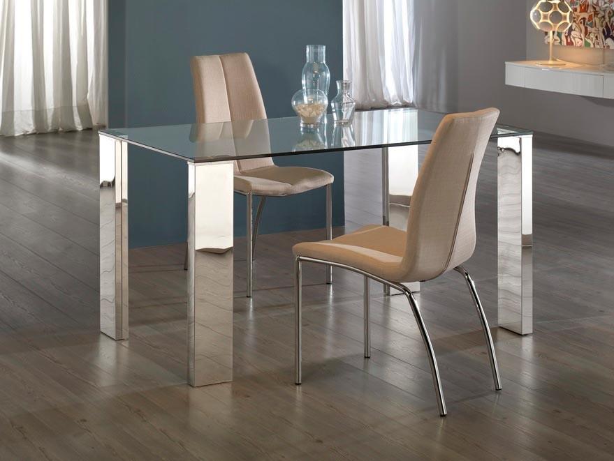 Mesas de vidrio para comedor los tiempos for Comedores de madera con cristal