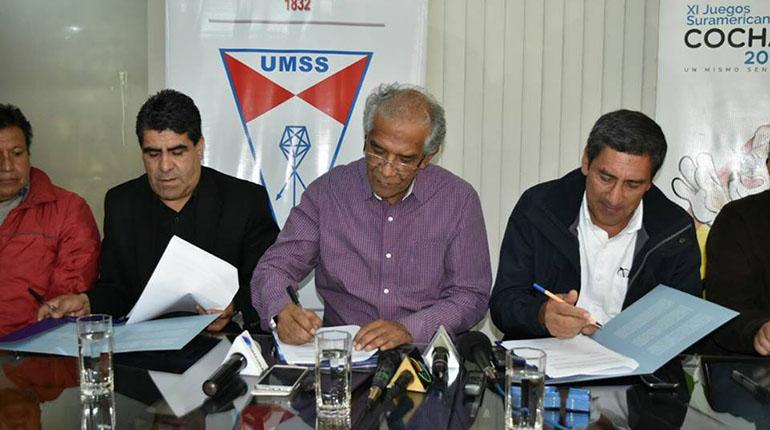 Umss Y Ministerio De Deportes Firman Convenio Para