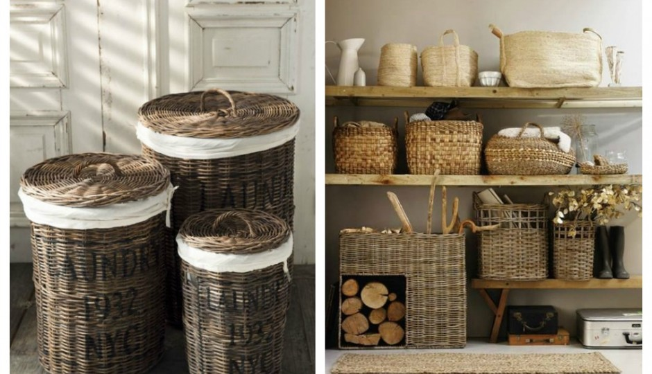 Cestas de mimbre perfectas para la decoraci n del hogar for Decoracion del hogar reciclando