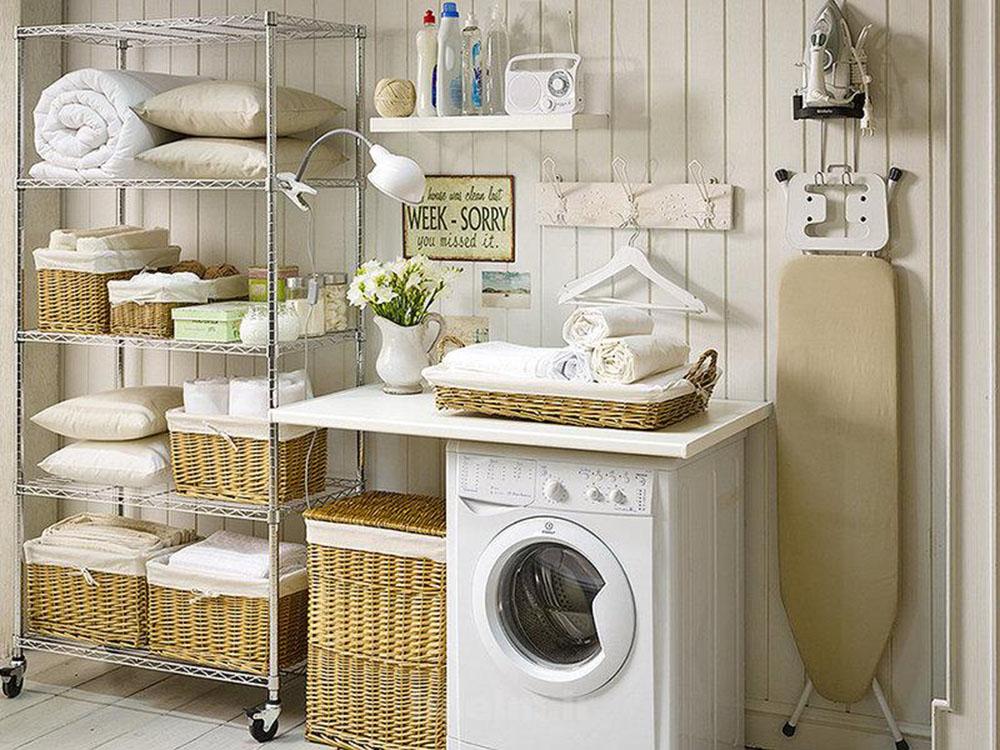 Cestas de mimbre perfectas para la decoraci n del hogar for Fotos de lavaderos