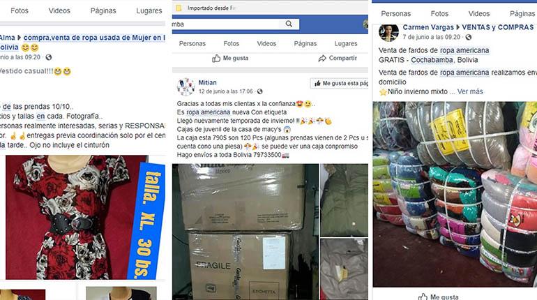 d70b81a8306b Oferta de ropa usada en las RRSS, desde Bs 2 y con entrega a ...