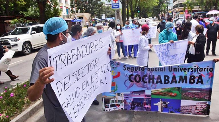 Sector salud de Cochabamba intensifica medidas en rechazo a la Ley de Emergencia Sanitaria