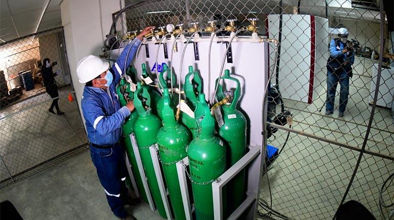 Entra en funcionamiento la planta de oxígeno de la CBN donada al Hospital  del Sur   Los Tiempos