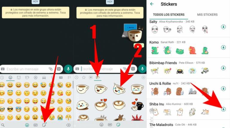 como descargar stickers en whatsapp