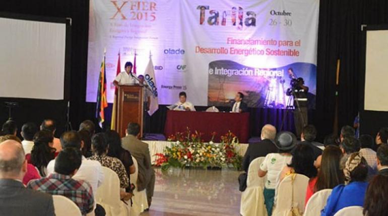 Acto de la Olade en Tarija. | Foto archivo