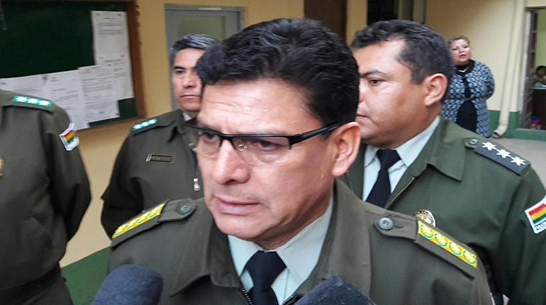 El comandante general de la Policía, Rino Salazar. | ABI
