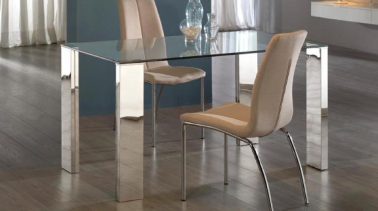 Mesas de vidrio para comedor los tiempos for Mesas de comedor de vidrio modernas