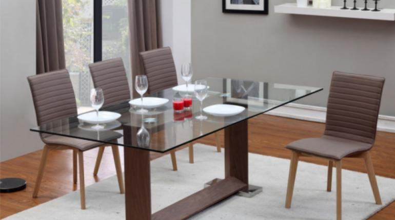 Mesas de vidrio para comedor los tiempos for Mesas de vidrio de diseno