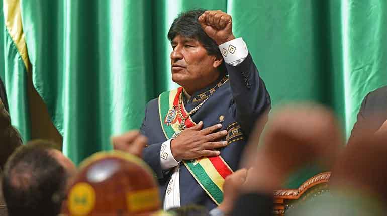 El presidente Evo Morales preside la celebracion del aniversario del Estado Plurinacional. | ABI
