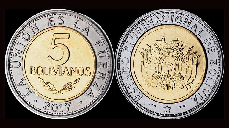 Moneda de bolivia 2017