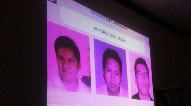 Gobierno presenta a los presuntos estafadores. | July Rojas