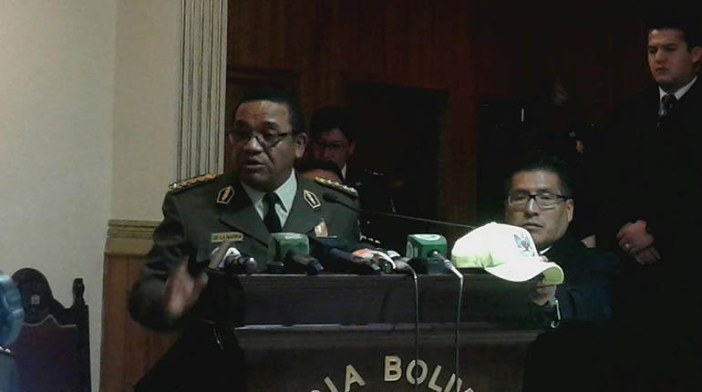 El comandante de la Policía, Abel De La Barra. | Foto archivo | ABI
