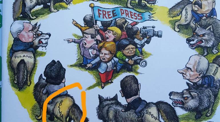 Ilustración que acompaña al informe de Freedom House. | Los Tiempos
