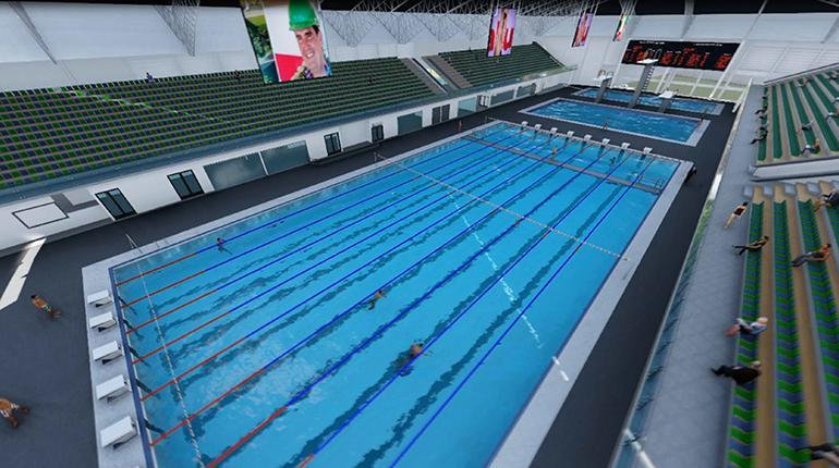 Piscina moderna con tecnolog a de ltima generaci n los tiempos - Medidas de una piscina olimpica ...