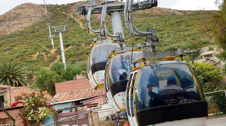 Cabinas del teleférico funcionan después de dos meses y medio de mantenimiento. | Fernando Balderrama