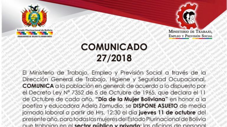 Ministerio De Trabajo Dispone Asueto De Media Jornada Por El Dia De