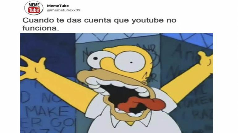 memes de la caída de YouTube