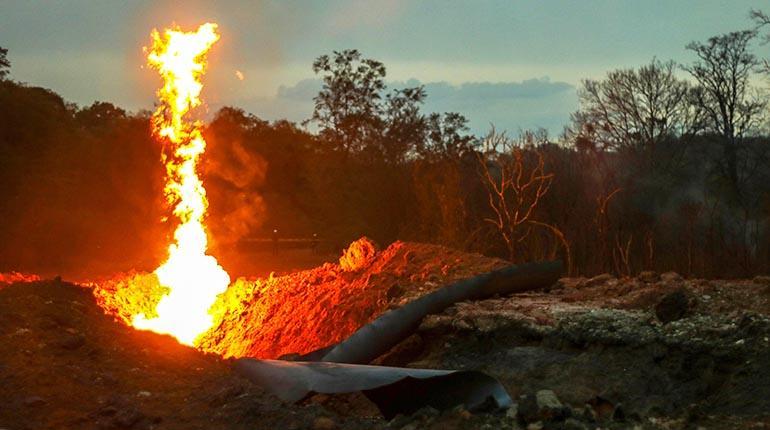 Reportan un segundo incidente en ductos de gas de Villamontes