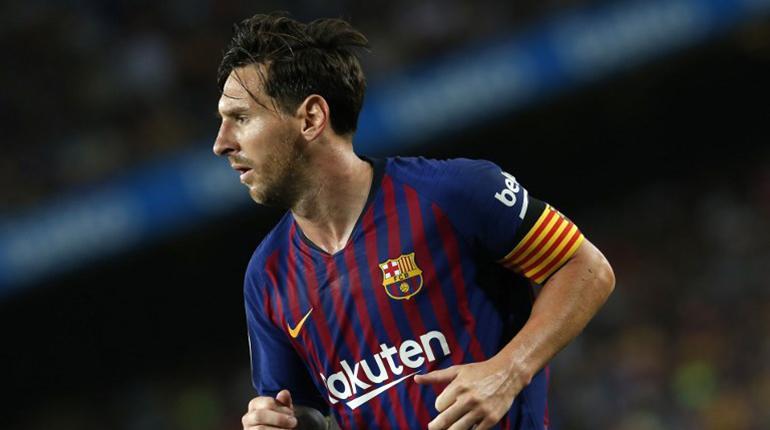 Lionel Messi durante un partido con Barcelona.  c348a35cc91