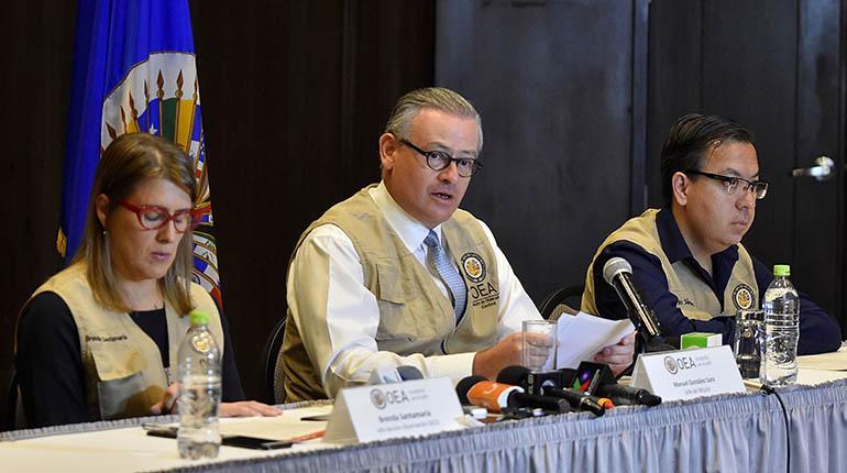 Misión de la OEA sugiere realizar una segunda vuelta como salida ...
