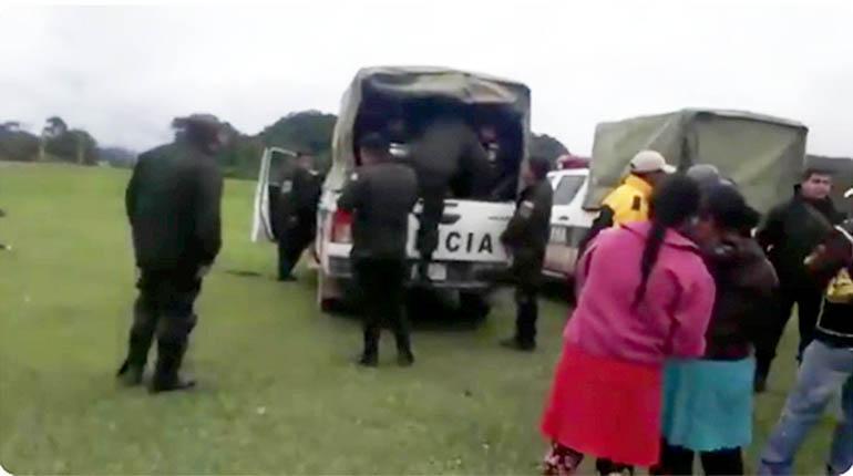 Petroleras entran en Tariquía con policías; comunarios advierten